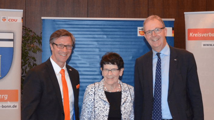 © CDU Bonn: Christos Katzidis, Prof. Dr. Rita Süssmuth und Axel Voss (v.l.)