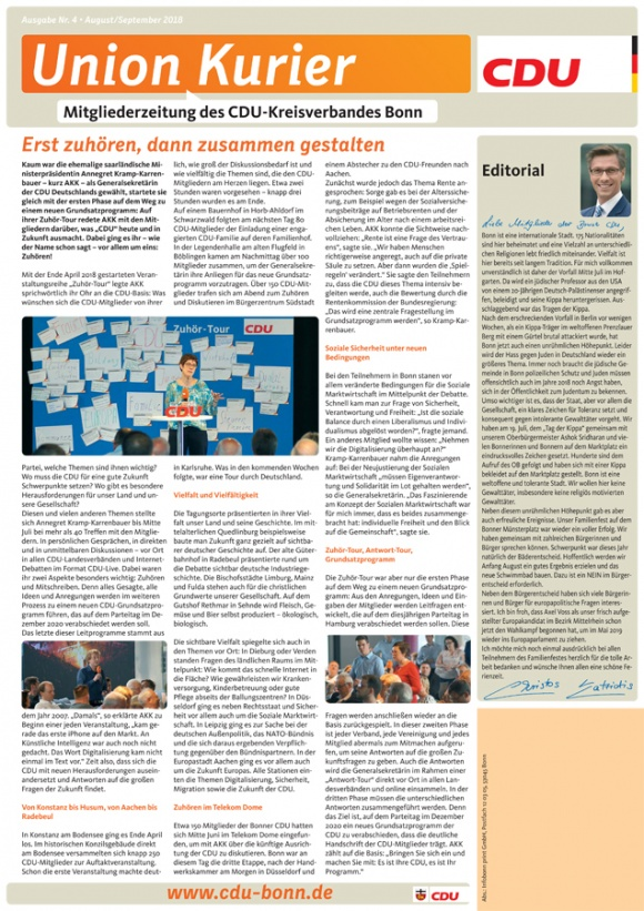 UnionKurier: Ausgabe August-September 2018